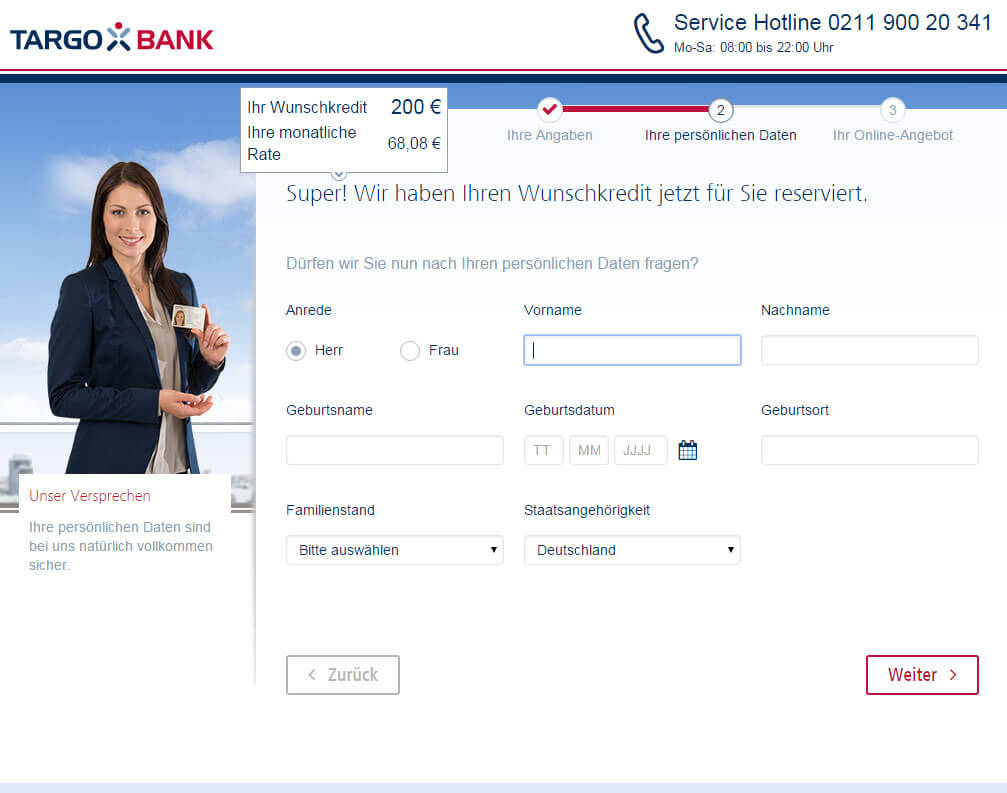 Targobank Online Kredit